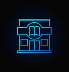 book store icon vector image