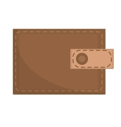 Brown wallet icon flat design isolated on white vector