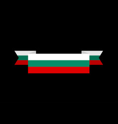 bulgaria flag ribbon isolated bulgarian tape vector image vector image
