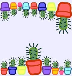 Cactus seamless 7 vector