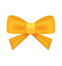 Cartoon cute gift bow with ribbon color butterfly vector