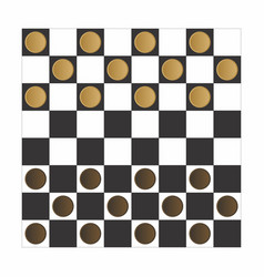 Checker board game vector