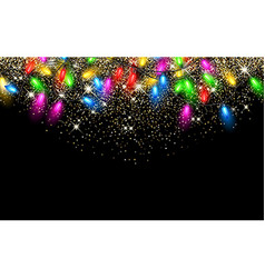 Christmas garland on black background vector
