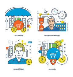 concept of insurance business planning security vector image