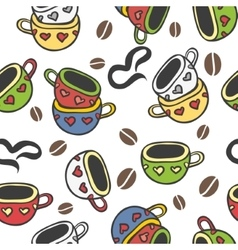 cup doodle vector image