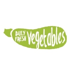 Daily fresh vegetables hand drawn isolated label vector