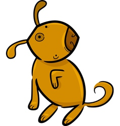 doodle dog vector image vector image