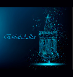Eid al adha beautiful greeting card with vector