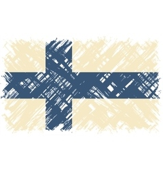 Finnish grunge flag vector image