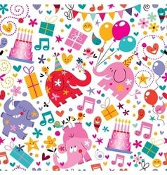 Happy Birthday pattern 6 vector image vector image
