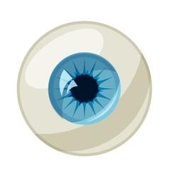 Human eye ball icon cartoon style vector