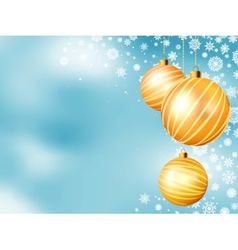 Light blue Christmas backdrop with balls EPS 8 vector image
