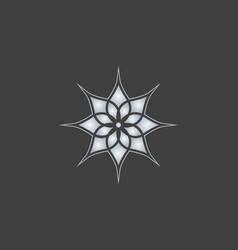 Lotus logo icon design vector