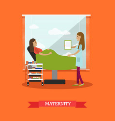 Maternity concept in flat vector