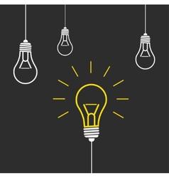 modern light bulb background vector image vector image
