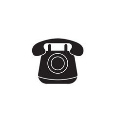 Old phone solid icon vintagecall social media vector