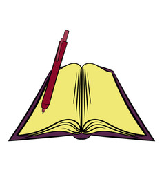open textbook icon cartoon vector image vector image