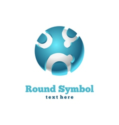 Round icon vector image vector image