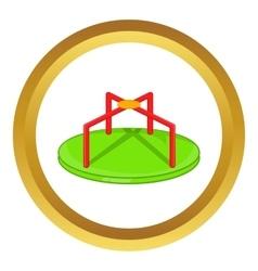 Round teeter icon vector
