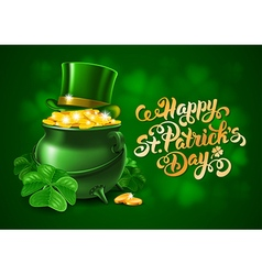 Saint Patricks Day Card Design vector image vector image