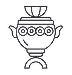 samovar sign line icon sign vector image vector image
