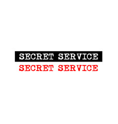 Secret service rubber stamp badge with typewriter vector