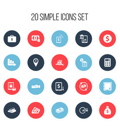 Set of 20 editable banking icons includes symbols vector