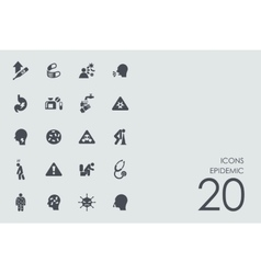 Set of epidemic icons vector
