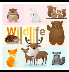 Set of wild animals 2 vector