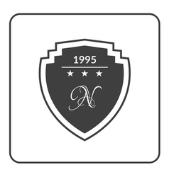 Shield emblem black vector