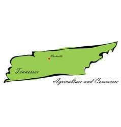 State of tennessee vector