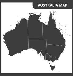 The detailed map of the australia with regions vector