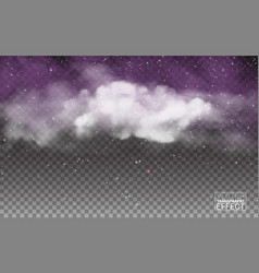 White cloudiness mist or smog background vector