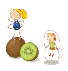 Kiwifruit kids vector