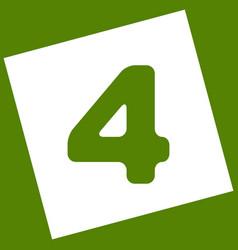 Number 4 sign design template element vector