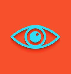 eye sign whitish icon on vector image