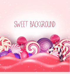 Candy of pink land background vector