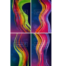 beautiful bright abstract backgrounds vector image