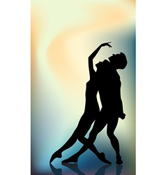Couple ballet dancers vector