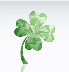 Four leaf clover as symbol of luck vector