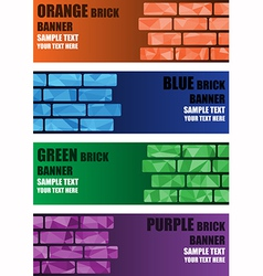 Polygon brick banner vector