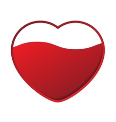 Red heart with wave vector