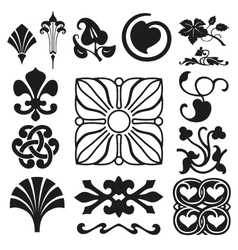 Retro ornaments collection vector