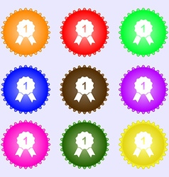 Award medal icon sign a set of nine different vector