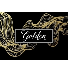Luxury golden modern card vector
