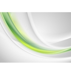 Green and grey abstract smooth waves design vector