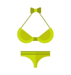 Swimsuit isolated vector