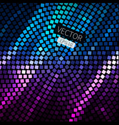 abstract geometric disco background in bright vector image vector image