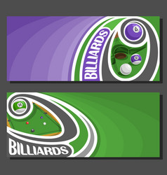 Banners for billiards vector