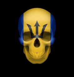 Barbadian flag skull vector